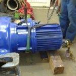 Kanalizační čerpadlo 800 kg – před opravou